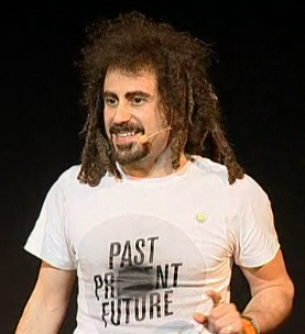 Faris Yakob on stage - taken from A Petter Idea blog