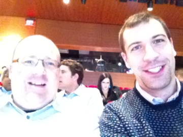At Mashable Media Summit: Myself (with Movember stubble) & my Canadian digital counterpart Citizen Optimum's VP - and former advisor to the Canadian PM- David Brodie